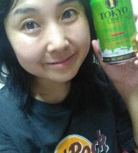 本日の晩酌写メ☆東京クラフトビールケルシュスタイル飲んでいます!