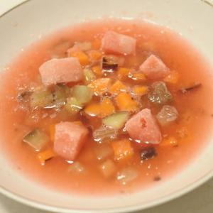 太郎のごはんレポート『スイカの冷製スープ』