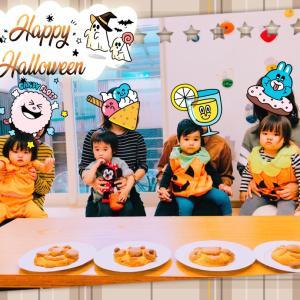 【イベント】わんぱくベビークラスはかぼちゃのクッキーをつくったよ!