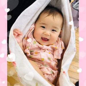 赤ちゃんの笑い声に癒されてます
