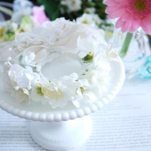 ヴェール付きウェディング花冠