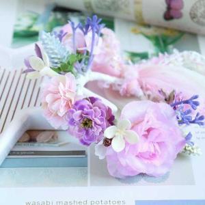 うさぎ用カラフル花冠(ピンク)