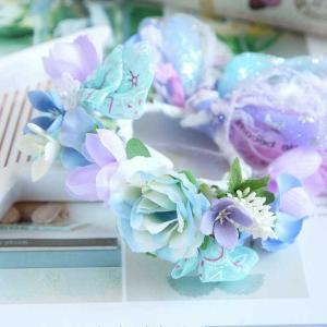 うさぎ用カラフル花冠(ブルー)