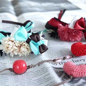 バレンタイン用花冠(チョコミント、ストロベリーチョコ)