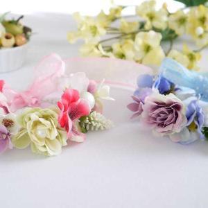 パンジー&ローズの花冠