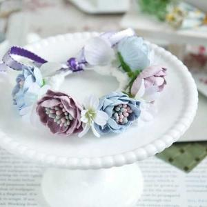 スモーキーカラーの花冠
