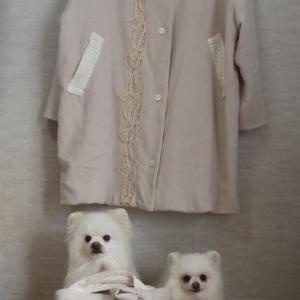 母ちゃんのウールのコートとバッグ~♪