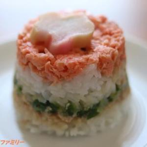 雛祭りに ちらし寿司を食べました~♪