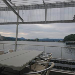 三隈川は穏やか