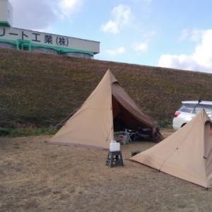 今シ−ズン一番の極寒キャンプ その1