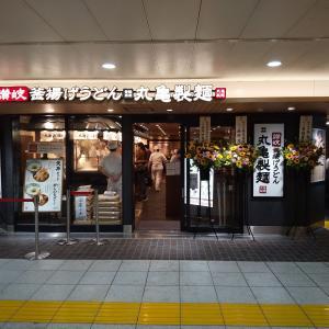 【番外】丸亀製麺 EQUiA北千住店 で 『かけうどん(冷)+さつま揚(紅生姜)』