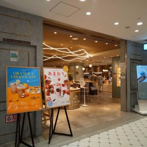 ■GODIVA café Tokyo@東京駅 で 『カカオフルーツマリネチキンのサラダ蕎麦』他