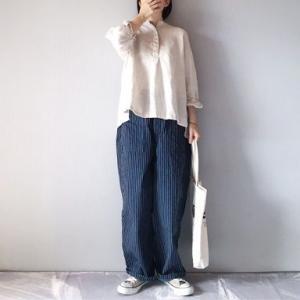 ■(着画)無印良品リネンPO,ordinary fits JAMES pants straipeなど*楽天スーパーセール半額以下商品などいろいろ■