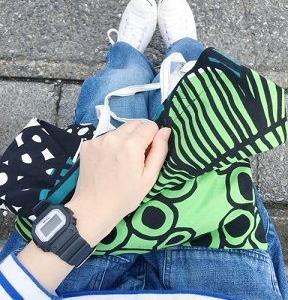 ■(着画)イーザッカさんボーダー,ordinary fits JAMES PANTS,marimekkoバッグなど*今日の気になるものPICK UP■