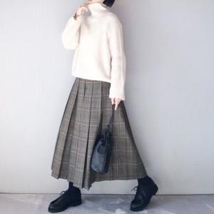 ■(着画)ポチしたプチプラグレンチェックスカート穿いてみました*楽天感謝祭お得情報などいろいろ■
