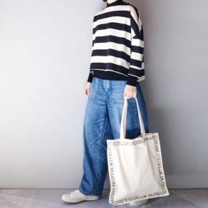 ■(着画)イーザッカさんボーダー,無印タートルニット,ordinary fits JAMES PANTSなど*お買物マラソンお得情報などいろいろ■