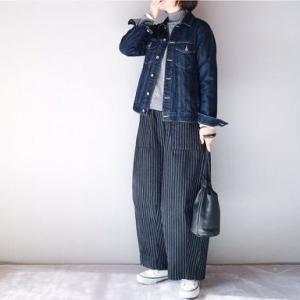 ■(着画)LEPSIMデニムジャケット,Neu tral wear Lifeストライプワイドパンツなど*ポチっとしたもの*今日の気になるものPICK UP■