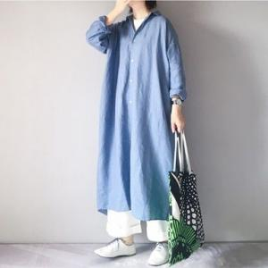 ■(着画)pritリネンビッグシャツワンピース,nest robeパンツ,marimekkoバッグなど*今日の気になるものPICK UP■