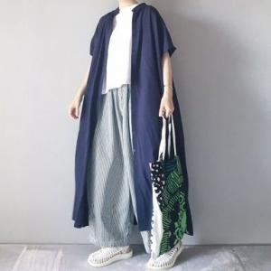 ■(着画)Libraバンドカラーシャツワンピース,harvestyストライプサーカスパンツなど*今日の気になるものPICK UP■