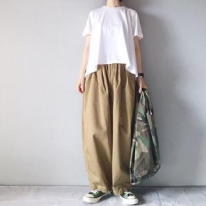 ■(着画)mizuiro-ind半袖Tシャツ,harvestyサーカスパンツ,hempコンバースなど*今日の気になるものPICK UP■