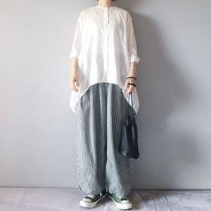 ■(着画)mizuiro-indチュニックシャツ,harvestyストライプサーカスパンツなど*ポチっとしたもの*今日の気になるものPICK UP■