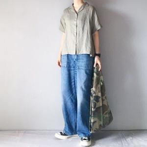 ■(着画)無印良品リネン開襟シャツ,ordinary fits JAMES PANTS,TRUCKトートなど*お買物マラソンお得情報などいろいろ■