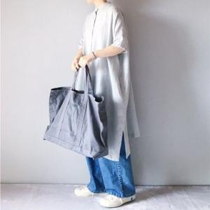 ■(着画)studio clipスタンドカラーワンピース,ordinary fits JAMES PANTS,LLBeanバッグなど*今日の気になるものPICK UP■