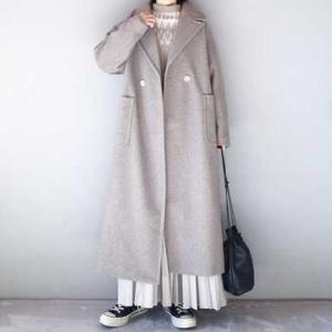 ■(着画)Libraダブルロングチェスターコート,niko andプリーツスカートなど*今日の気になるものPICK UP■