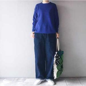■(着画)KURASHI&TRIPニット,ordinary fits JAMES PANTS,marimekkoバッグなど*今日の気になるものPICK UP■
