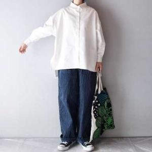 ■(着画)andRコットンロングシャツ,ordinary fits JAMES PANTSストライプなど*今日の気になるものPICK UP■
