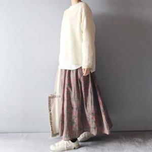 ■(着画)北欧暮らしの道具店×SOIL花柄ロングスカートお披露目*ポチっとしたもの*今日の気になるものPICK UP■
