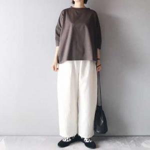 ■(着画)Linenya7分袖Tシャツ&リネンイージーパンツお披露目*今日の気になるものPICK UP■