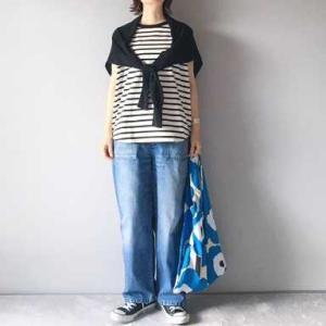 ■(着画)GLOBAL WORK ボーダーノースリTシャツ,ordinary fits JAMES PANTSなど*今日の気になるものPICK UP■