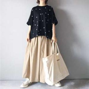 ■(着画)mizuiro-indドットTシャツ&ロングキュロット,ct70など*ポチっとしたもの*今日の気になるものPICK UP■