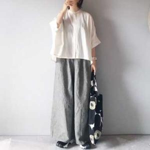 ■(着画)mizuiro-ind半袖シャツ,faneuilリネンチェックパンツなど*今日の気になるものPICK UP■