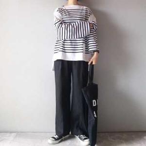 ■(着画)MOREPLUSボーダーバスクシャツ,GUパンツ,オールドマンズテイラーバッグなど*ポチっとしたもの*今日の気になるものPICK UP■