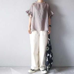 ■(着画)TANGリネン袖フリルPO,ordinary fits JANES PANTSなど*ポチっとしたもの*今日の気になるものPICK UP■
