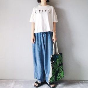 ■(着画)recaロゴ半袖Tシャツ,cepoワイドデニム,mariekkoバッグなど*今日の気になるものPICK UP■
