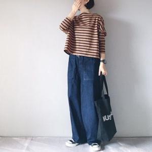 ■(着画)traditionalweatherwearボーダー,etrenneワイドデニムなど*ポチっとしたもの*楽天スーパーセール半額以下商品などいろいろ■