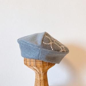 高くてかわいい!憧れの生地を小さくても効果的に楽しむベレー帽♪