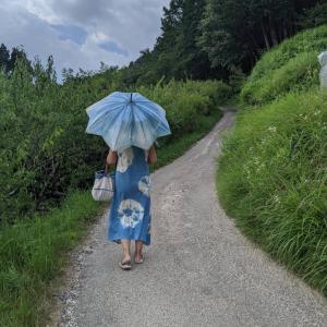 肩の力を抜くと 《胃が柔らかく》なります〜お氣に入りの日傘とともに