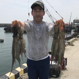 7月13日(金)の釣果(マダコお一人様で1.9kg・1.3kg他)