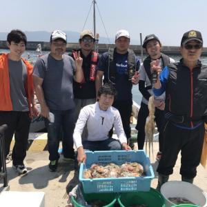 6月25日(月)の釣果(マダコ船中52杯)