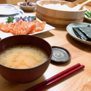 手巻き寿司と、増税前の。