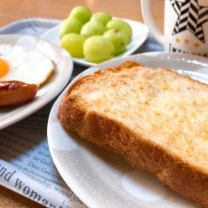 塩鮭のちらし寿司と、のんびり朝ごはん。