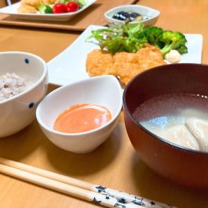 豆腐ナゲットと、紫陽花。