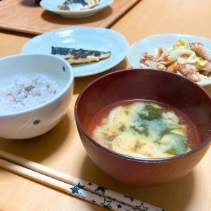 鯖の味噌漬け焼きと、ビタミン剤。
