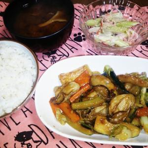 食事日記  牡蠣の味噌炒め。