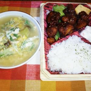 食事日記 鶏肉甘辛弁当。
