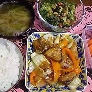 食事日記  ブリの味噌野菜炒め。